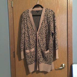 J. Crew leopard jacquard sweater in M, like new